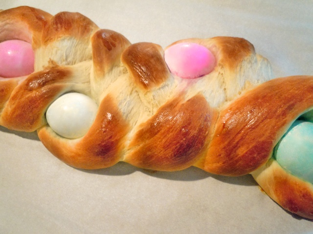 Bread Of The Month Rising With An Easter Braid A Woman Sconed